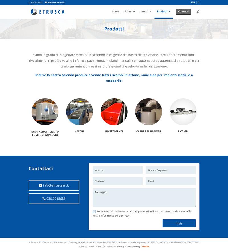 Etrusca pagina servizi e prodotti