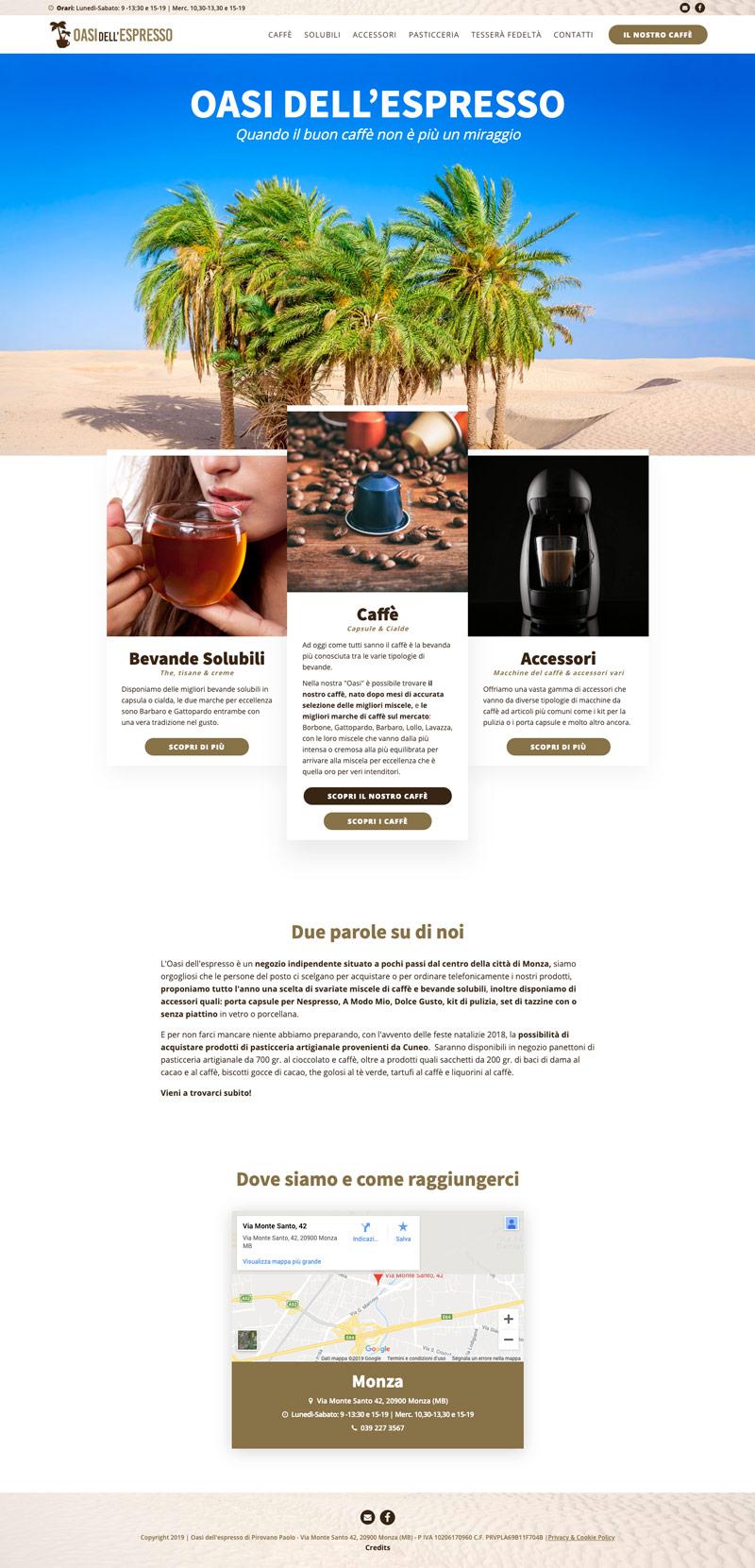 Sito web Oasi dell'espresso