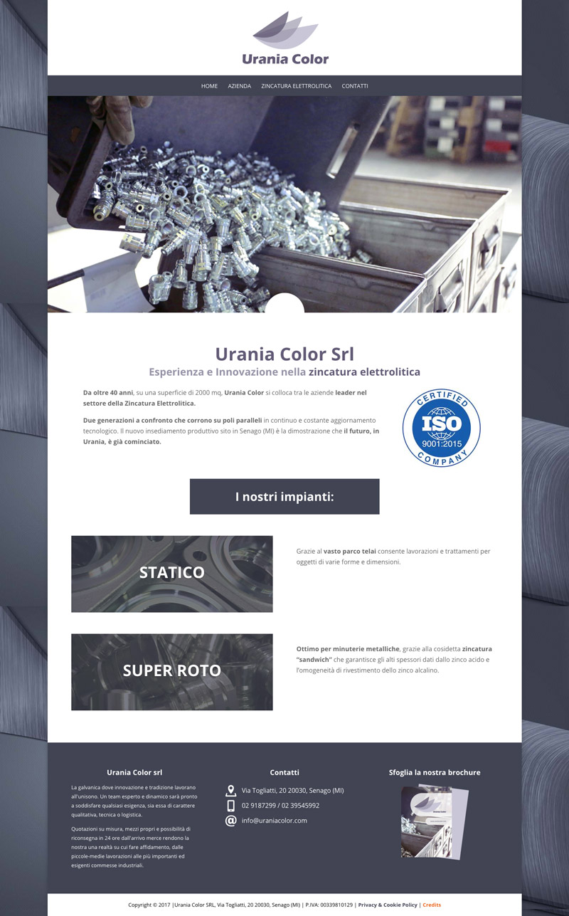 Urania Color sito web